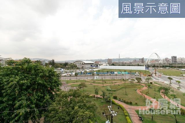 玫瑰公園綠蔭宅 景觀-面玫瑰公園,俯瞰新月橋